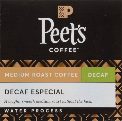 Peet's Decaf Especial Medium Roast Coffee K-Cup Pods Perspective: left