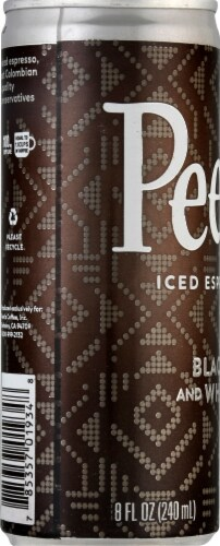 Peet's Coffee Black and White True Iced Espresso Coffee Drink Perspective: left