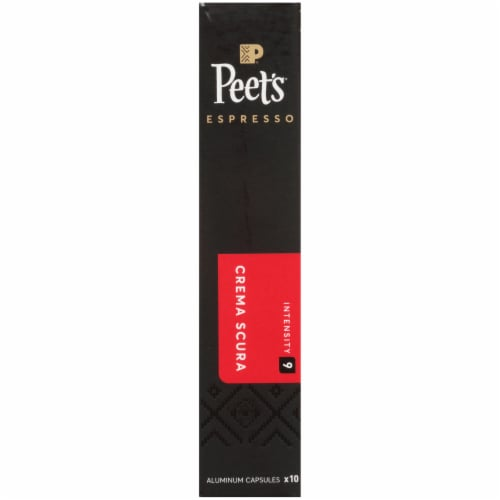 Peet's Coffee Crema Scura Arabica Espresso Coffee Aluminum Capsules Perspective: left