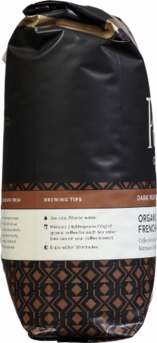 Peet's Coffee Organic French Roast Dark Roast Whole Bean Coffee Perspective: left