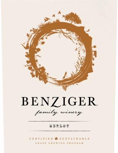 Benziger Merlot Red Wine Perspective: left