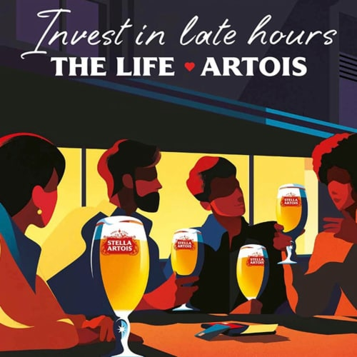 Stella Artois Belgium Lager Perspective: left