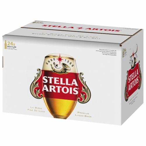 Stella Artois Premium Lager Beer Perspective: left