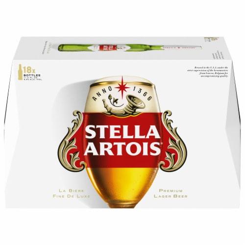 Stella Artois Belgium Beer Perspective: left