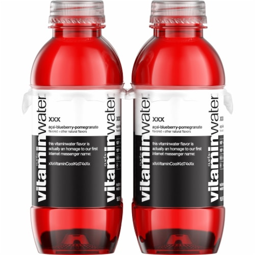 Vitaminwater XXX Acai-Blueberry-Pomegranate Flavored Water Perspective: left