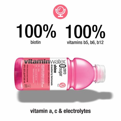 Vitaminwater Zero Sugar Shine Strawberry Lemonade Nutrient Enhanced Water Beverage Perspective: left