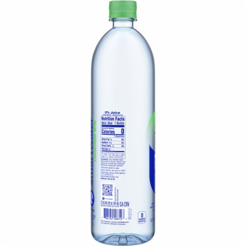 Smartwater Cucumber Lime Bottle Perspective: left