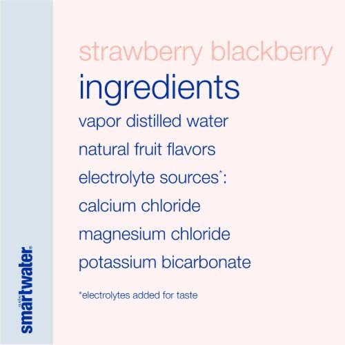 Smartwater Strawberry Blackberry Vapor Distilled Water Perspective: left