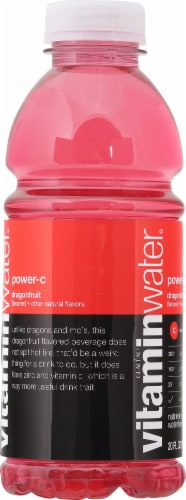 Vitaminwater Power-C Dragonfruit Flavored Nutrient Enhanced Water Beverage Perspective: left