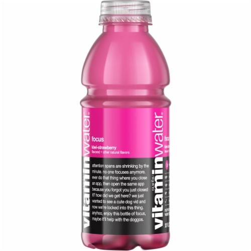 Vitaminwater Focus Kiwi-Strawberry Flavored Nutrient Enhanced Water Beverage Perspective: left