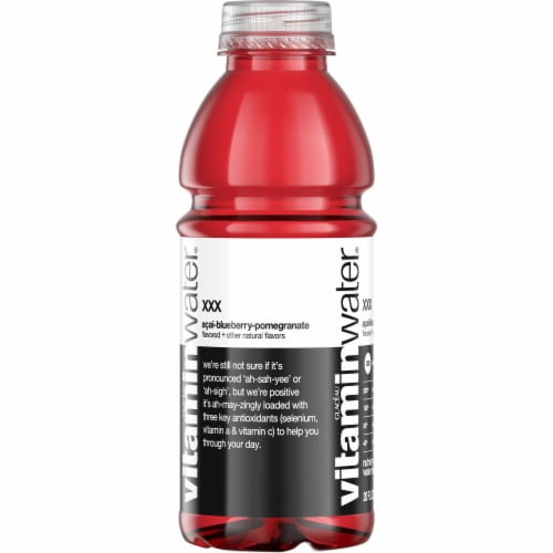 Vitaminwater XXX Acai-Blueberry-Pomegranate Nutrient Enhanced Water Beverage Perspective: left