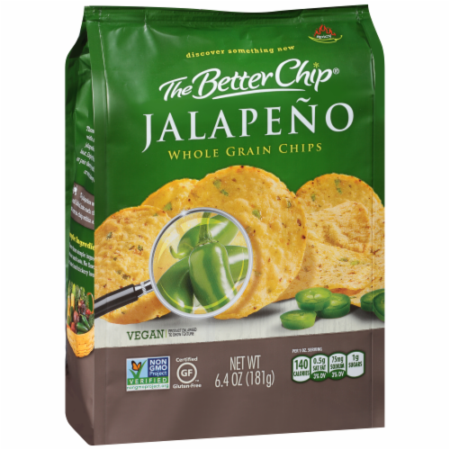 The Better Chip Jalapeno Whole Grain Chips Perspective: left