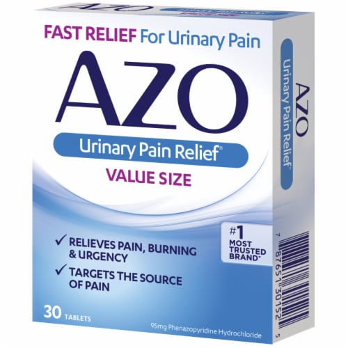 Azo Urinary Pain Relief Value Size Tablets 95 mg Perspective: left