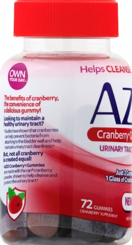 I-Health Mixed Berry AZO Cranberry Gummies Perspective: left
