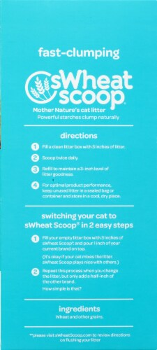 Swheat Scoop Fast-Clumping Wheat Cat Litter Perspective: left