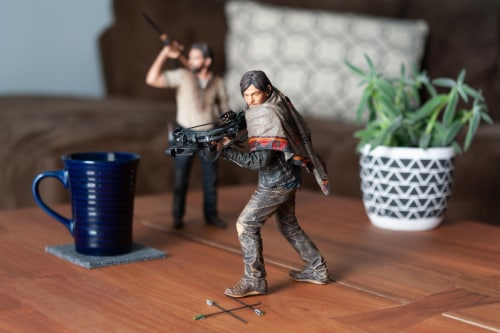 The Walking Dead Daryl Dixon Deluxe Poseable Figure | Measures 10 Inches Tall Perspective: left