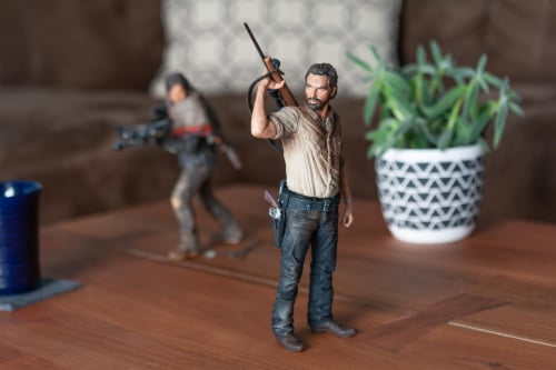 The Walking Dead Rick Grimes Deluxe Poseable Figure | Measures 10 Inches Tall Perspective: left