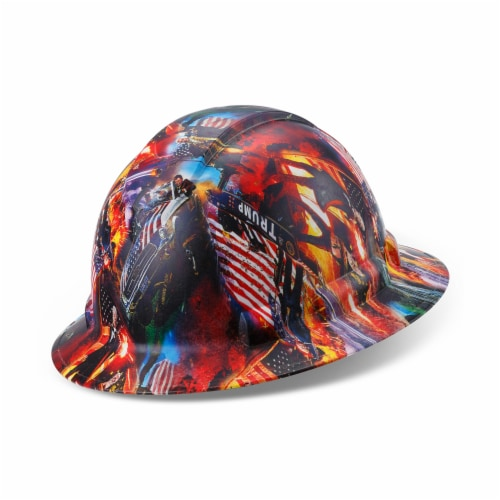 AcerPal 1PD1WH6M Full Brim Customized Pyramex Action Trump Maga Design Hard Hat Perspective: left