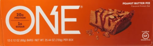 ISS Research  OhYeah!® One Peanut Butter Pie Protein Bar - 12 Count Perspective: left