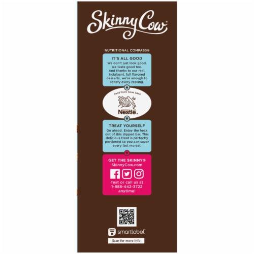 Skinny Cow Va Va Vanilla Almond Crunch Dipped Low Fat Ice Cream Bars 5 Count Perspective: left