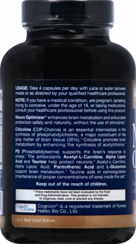 Jarrow Formulas Neuro Optimizer Capsules Perspective: left