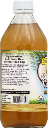 Dynamic Health Organic Coconut Vinegar with Mother Perspective: left