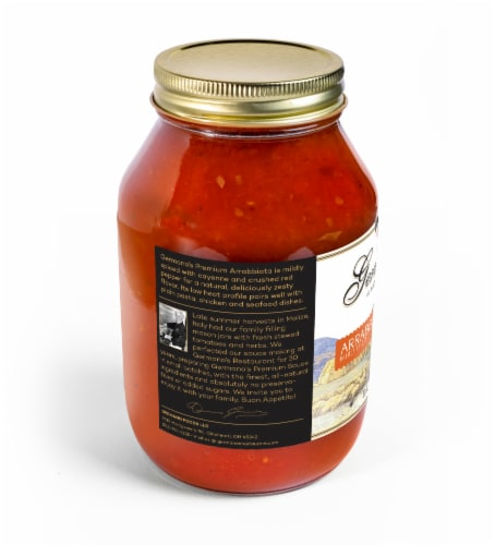 Germano's Arrabbiata Spicy Tomato Pasta Sauce Perspective: left