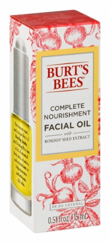 Burt's Bees Complete Nourishment Facial Oil With Rosehip Seed Extract Perspective: left