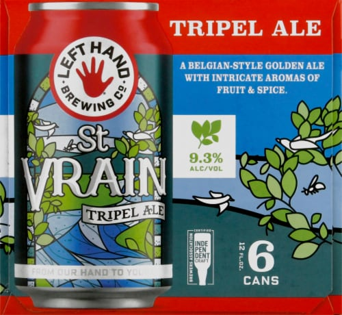 Left Hand Brewing Co. St. Vrain Triple Ale Beer Perspective: left