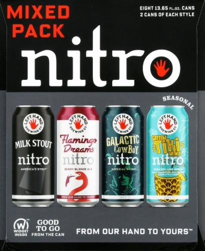 Left Hand Brewing Co. Nitro Beer Mixed Pack Perspective: left