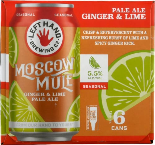 Left Hand Brewing Co. Found Moscow Mule Ginger & Lime Pale Ale Perspective: left