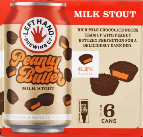 Left Hand Brewing Co. Peanut Butter Milk Stout Perspective: left