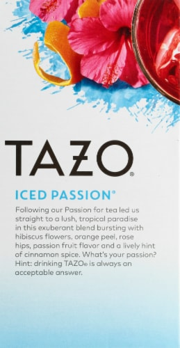 Tazo Iced Passion Herbal Tea Bags Perspective: left