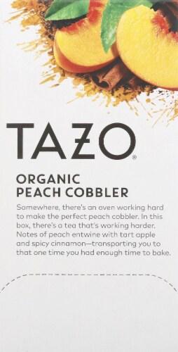 Tazo Organic Peach Cobbler Black Tea Perspective: left