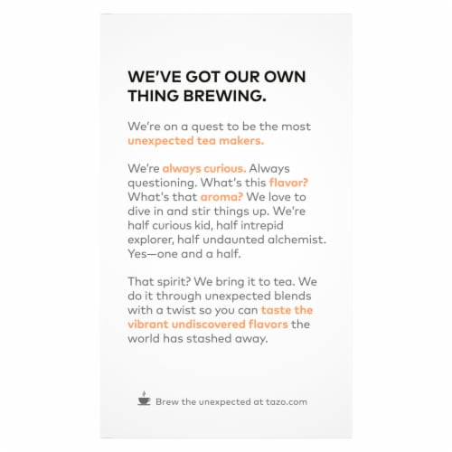 Tazo Refresh Mint Herbal Tea Bags Perspective: left