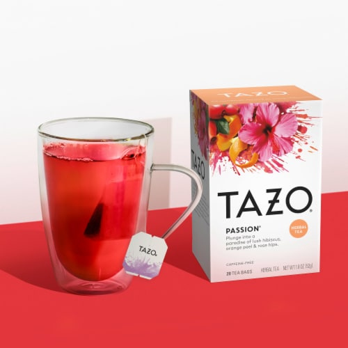 Tazo Passion Herbal Tea Bags Perspective: left
