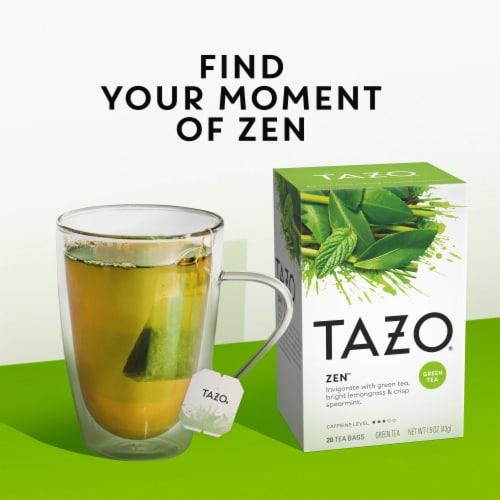 Tazo Zen Green Tea Bags Perspective: left