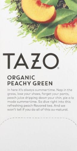 Tazo Organic Peachy Green Tea Bags Perspective: left