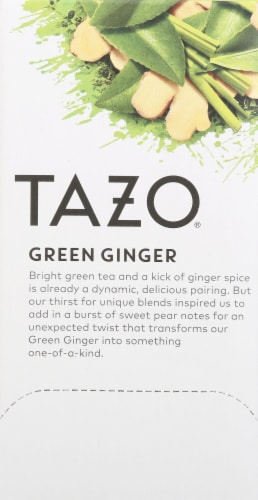 Tazo Green Ginger Tea Bags Perspective: left