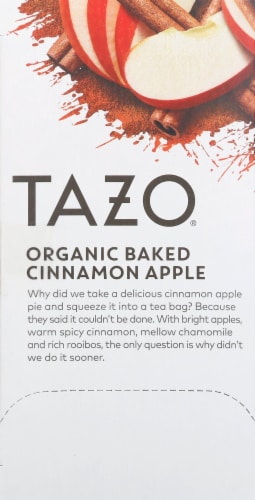 Tazo Organic Apple Red Tea Perspective: left