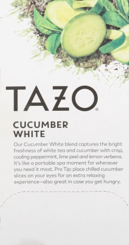 Tazo Cucumber White Tea Perspective: left