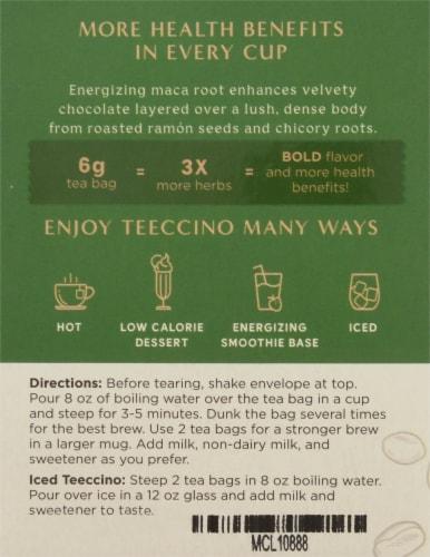 Teeccino Chocolate Organic Herbal Tea Bags Perspective: left