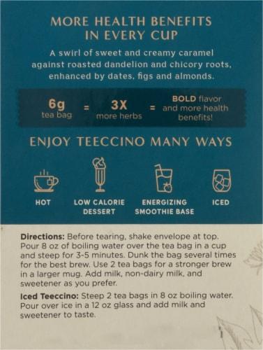 Teeccino® Dandelion Caramel Nut Tee Bags Perspective: left