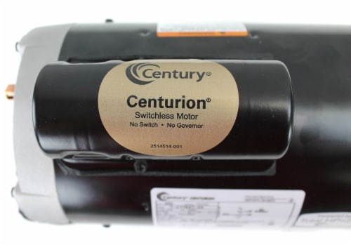 A.O. Smith Century B855 Up Rated 2.0 HP 3450 RPM Single Speed Pool Pump Motor Perspective: left