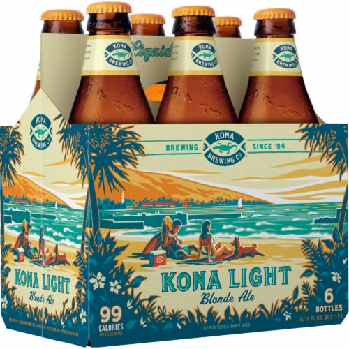 Kona Brewing Co. Kona Light Blonde Ale Perspective: left