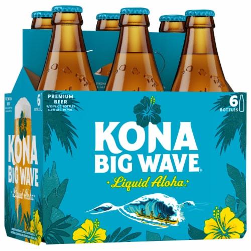 Kona Brewing Co. Big Wave Golden Ale Beer Perspective: left