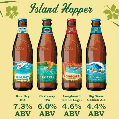 Kona Brewing Co. Island Hopper Variety Pack Perspective: left