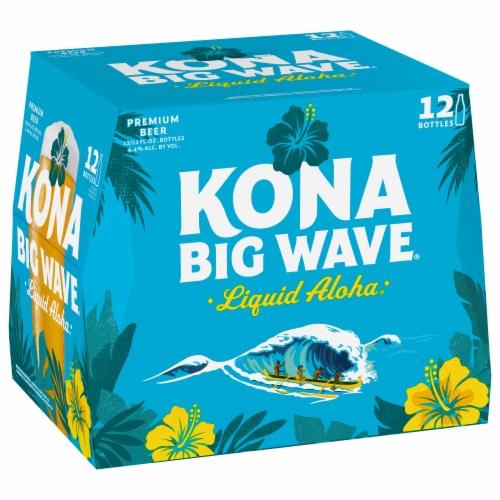 Kona Brewing Co. Big Wave Golden Ale Perspective: left
