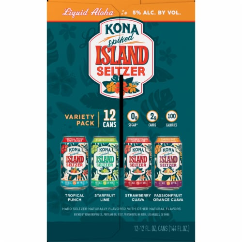 Kona Brewing Co. Spiked Island Seltzer Variety Pack Perspective: left