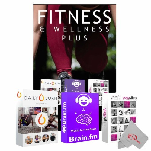 5mm Yoga Mat Activity Tracker Earbuds And Iphone App Bundle For Muscle Training Perspective: left